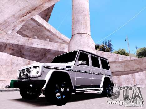 Mercedes-Benz G65 2012 for GTA San Andreas inner view
