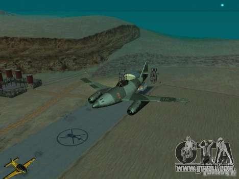 Messerschmitt Me262 for GTA San Andreas back view