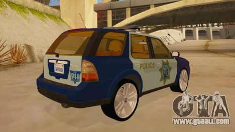 Saab 9-7X Police for GTA San Andreas right view