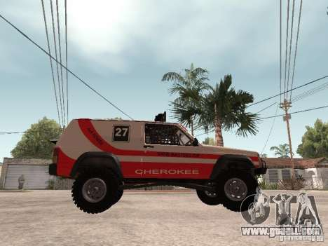 Jeep Cherokee 1984 for GTA San Andreas back left view