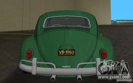 Volkswagen Beetle 1963 for GTA Vice City upper view