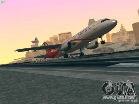 Airbus A320-214 Hong Kong Airlines for GTA San Andreas upper view