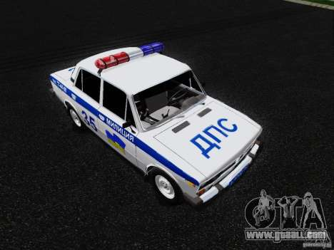 VAZ 2106 Police for GTA San Andreas right view