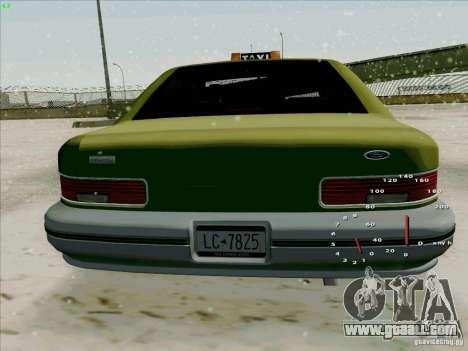 HD Taxi SA from GTA 3 for GTA San Andreas right view
