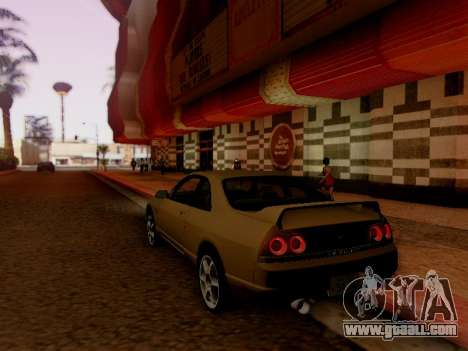 Nissan Skyline ECR33 for GTA San Andreas back view