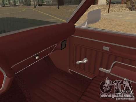 1970 Chevrolet Monte Carlo for GTA San Andreas bottom view
