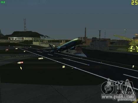 Boeing 767-300 AeroSvit Ukrainian Airlines for GTA San Andreas back view
