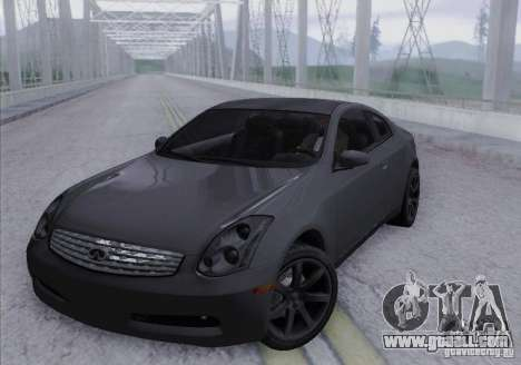 Infiniti G35 for GTA San Andreas side view