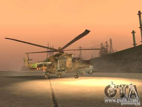 Mi-24 p for GTA San Andreas back left view
