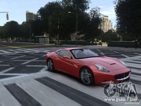Ferrari California 2009 for GTA 4 back view