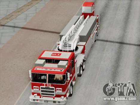 Pierce Arrow XT LAFD Tiller Ladder Truck 10 for GTA San Andreas engine