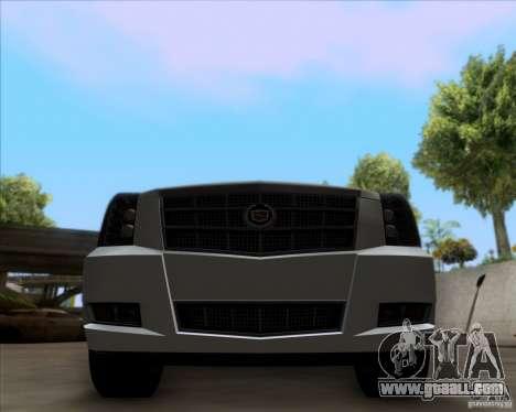 Cadillac Escalade ESV Platinum 2013 for GTA San Andreas inner view