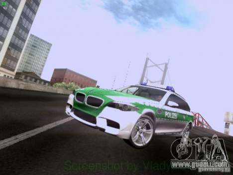 BMW M5 Touring Polizei for GTA San Andreas left view