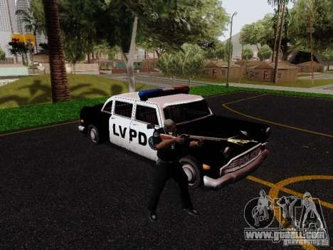 Cabbie Police LV for GTA San Andreas right view