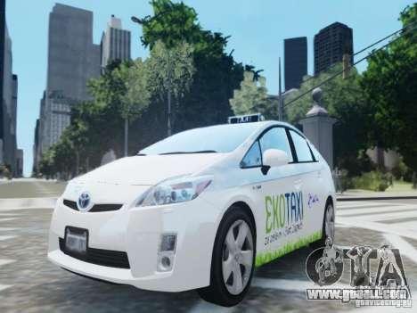 Toyota Prius EKO TAXI (Hrvatski taxi) for GTA 4