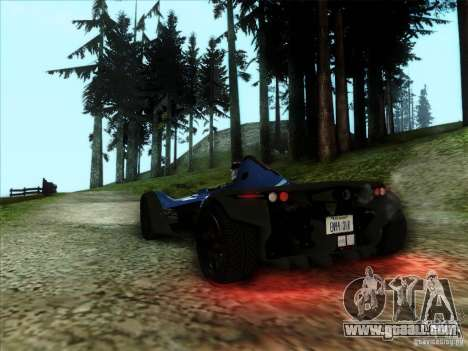 BAC MONO for GTA San Andreas left view