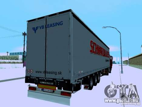 Volvo FH13 for GTA San Andreas bottom view