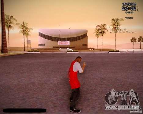 Skin Chicago Bulls for GTA San Andreas forth screenshot