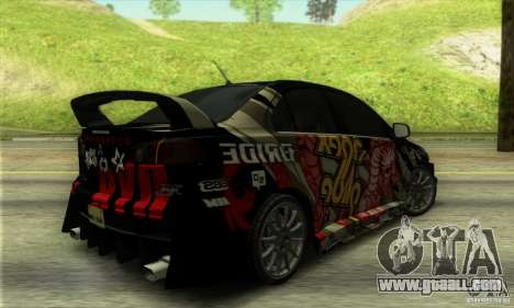 Mitsubishi Lancer Evolution X 2008 for GTA San Andreas right view