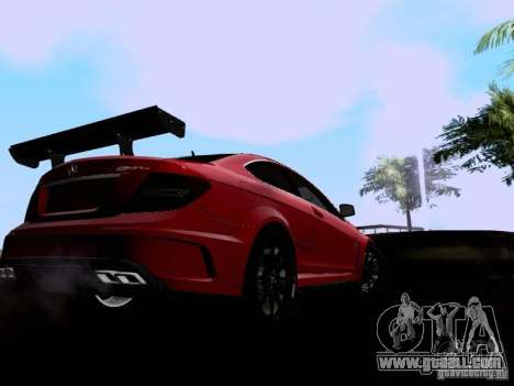 Mercedes-Benz C63 AMG 2012 Black Series for GTA San Andreas back left view