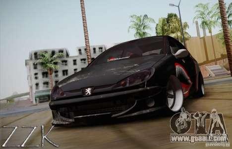 Peugeot 206 Shark Edition for GTA San Andreas