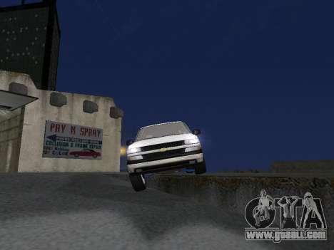 Chevorlet Silverado 2000 for GTA San Andreas engine