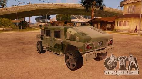 HD Patriot for GTA San Andreas bottom view