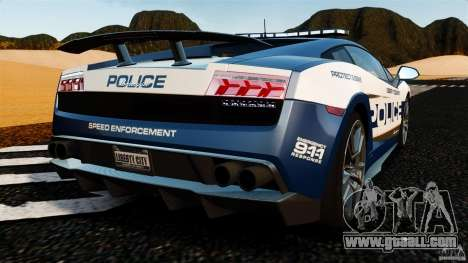 Lamborghini Gallardo LP570-4 Superleggera Police for GTA 4 back left view