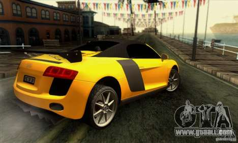 Audi R8 Spyder Tunable for GTA San Andreas engine