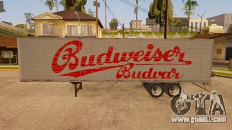 All-metal trailer for GTA San Andreas left view