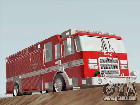 Pierce Contender LAFD Rescue 42 for GTA San Andreas left view