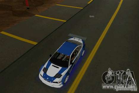 BMW M3 GTR NFSMW for GTA Vice City right view
