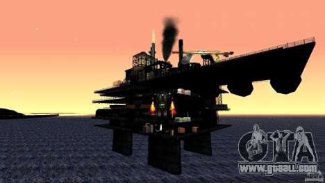 Oil platform in Los Santos for GTA San Andreas third screenshot
