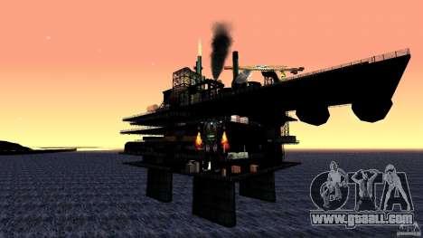 Oil platform in Los Santos for GTA San Andreas third screenshot