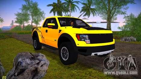 Ford F-150 SVT Raptor for GTA Vice City