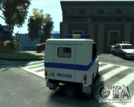 UAZ 31512 Police for GTA 4 back view