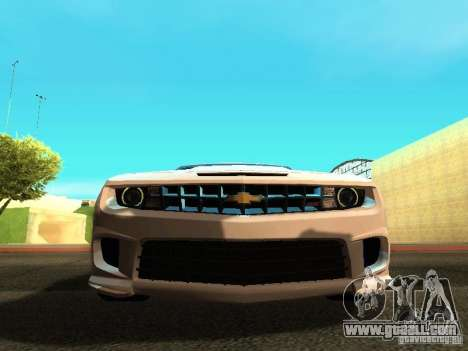 Chevrolet Camaro SS 2010 for GTA San Andreas inner view