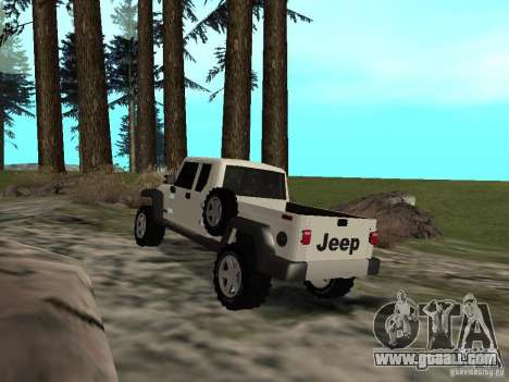 Jeep Gladiator for GTA San Andreas back left view