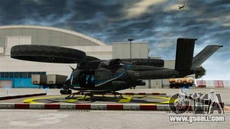 Transport helicopter SA-2 Samson for GTA 4 back left view