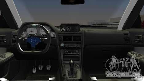 Nissan Skyline GTR R34 for GTA Vice City right view