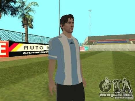 Lionel Messi for GTA San Andreas forth screenshot
