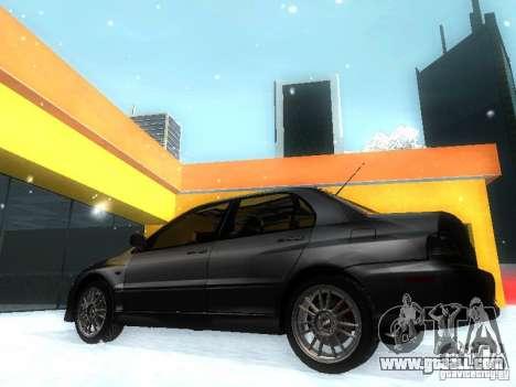 Mitsubishi Lancer Evo IX MR Evolution for GTA San Andreas left view