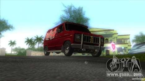 Ford E-150 Gang Burrito for GTA Vice City back view