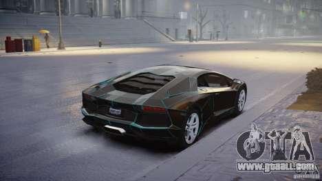 Lamborghini Aventador LP700-4 for GTA 4 back left view