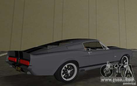 Shelby GT500 Eleanor for GTA Vice City back view
