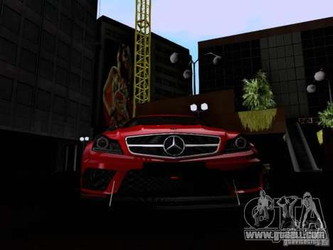 Mercedes-Benz C63 AMG 2012 Black Series for GTA San Andreas side view
