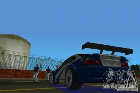 BMW M3 GTR NFSMW for GTA Vice City back left view
