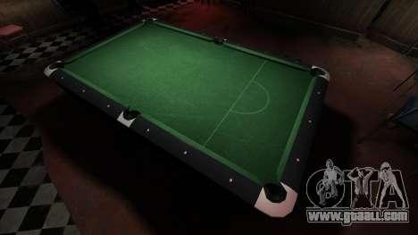 Superior billiard table in the bar 8 balls for GTA 4 third screenshot