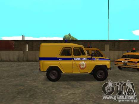 UAZ 3151 Police for GTA San Andreas left view