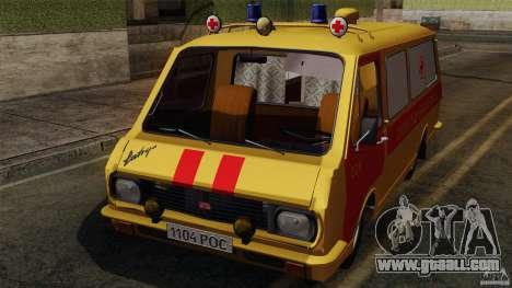 RAF 22031 Latvija ambulance for GTA San Andreas inner view